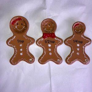 Gingerbread Family Ceramic Measuring Spoons